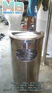 standing ashtray stainless stell bulat setengah lingkaran murah di jakarta