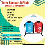 TONG SAMPAH FIBER BULAT 2 IN 1