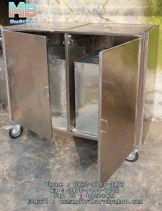 bak sampah stainless stell besar drum murah ukuran harga pilihan dari pabrik