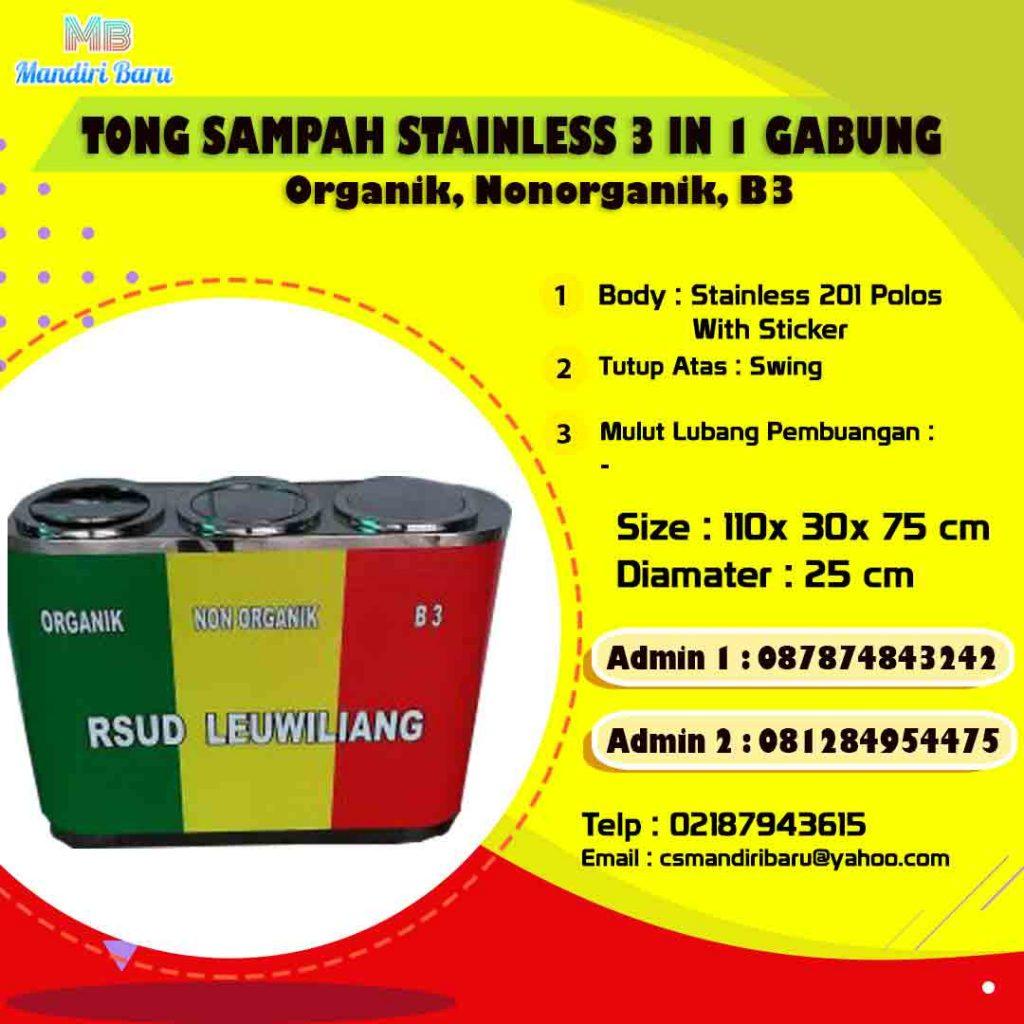 harga tong sampah stainless, jual tong stainless di bandung, harga tong stainless di Jakarta,