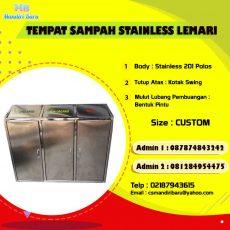 jual tempa sampah stainless, tong sampah stainless di Bandung,