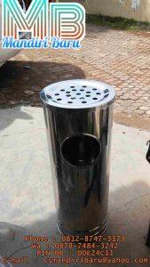 jual tong standing ashtray stainless stell harga murah di bandung