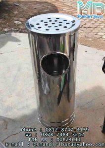 standing ashtray stainless harga murah dari pabrik produsen terbaik