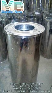 standing ashtray jual tempat sampah stainless di medan