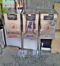 standing ashtray stailess stell kotak pilah 3 in 1 harga murah