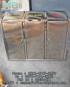 toko Model tong stainless kotak 3 in 1 harga murah bandung