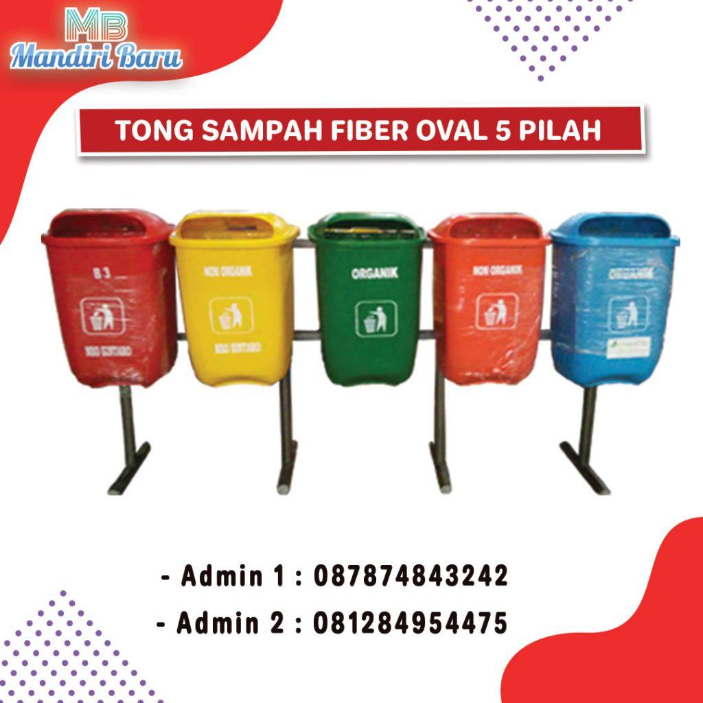 tong sampah fiber oval, tong sampah fiberglas , tong fiber,