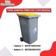 tong sampah fiber, tong sampah fiberglas, tempat sampah 120 liter,