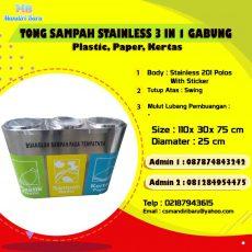 tong sampah stainless, harga tempat sampah stainless di Bandung, jual tempat sampah stainless