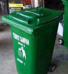 tong sampah fiber roda