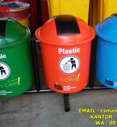 jual tong sampah bulat tutup goyang kapasitas 50 Liter harga murah di semarang dan yogyakarta, jual tong sampah untuk CSR di bandung dan semarang murah