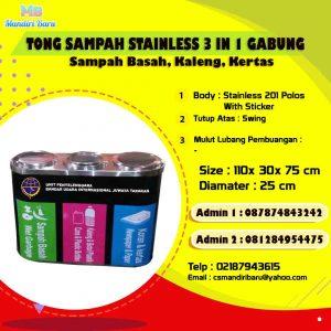 harga tempat sampah stainless, jual tempat sampah stainless, tong stainless di Bandung, tempat sampah tabung,