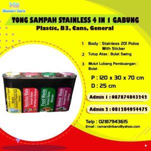 jual tempat sampah stainless, harga tong sampah stainless, tong stainless di Jakarta,