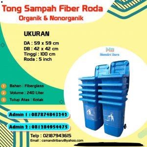 harga tong sampah fiberglass 240 liter, jual tempat sampah fiber di Jakarta, tong sampah fiber di Bandung,