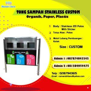 harga tempat sampah stainless, jual tong stainless di Bogor, harga tempat sampah stainless di Jakarta,
