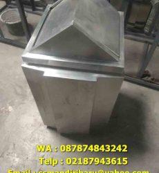 jual tong sampah stainless steel, Tong sampah stainless steel murah, harga tong sampah stainles