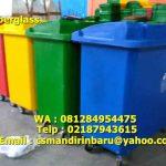 Tong sampah fiberglass beroda 660 Liter
