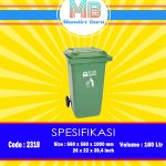 Tong sampah Plastik 180 Liter Beroda