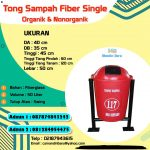 TONG SAMPAH FIBER SINGLE 50 LITER
