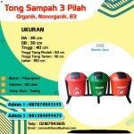 TONG SAMPAH FIBERGLASS 3 PILAH 40 Liter