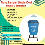 TEMPAT SAMPAH FIBERGLAS OVAL 50 LITER SINGLE