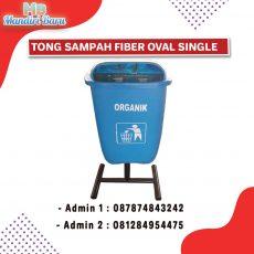 tempat sampah fiber single, tong sampah fiber, tempat sampah fiberglass,