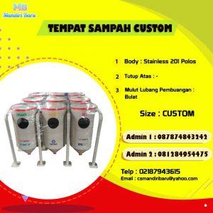 Jual tempat sampah stainless, harga tongs ampah stainless, tong sampah stainless di Surabaya,