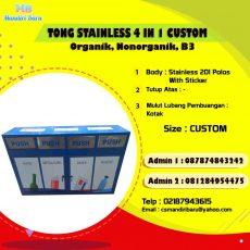 harga tong sampah stainless, jual tong sampah stainless, tempat sampah stainless di Bandung, tong sampah stainless di Jakarta,