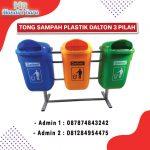 TEMPAT SAMPAH PLASTIK 3 IN 1 DALTON 50 LITER
