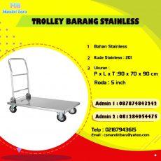 harga trolley barang, jual trolley barang, trolley barang stainless
