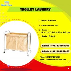 jual trolley laundry, harga trolley laundry, troli, harga troli,