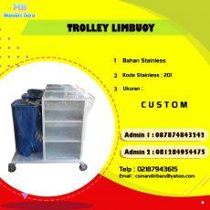 jual trolley linen, harga trolley murah, trolley laundry,