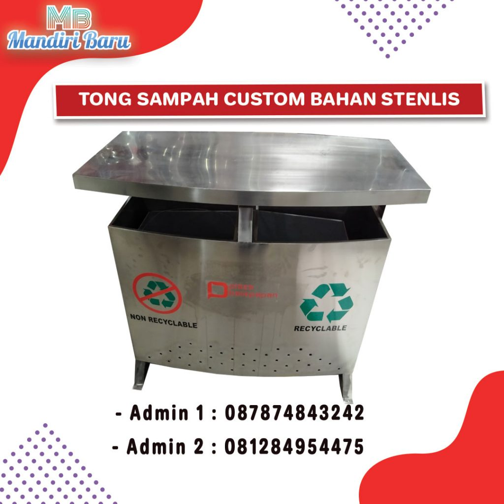 ts stainless, jual tong sampah stainless,